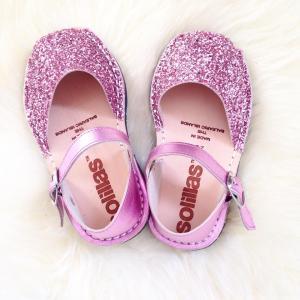 Solillas pink glitter Menorcan sandals