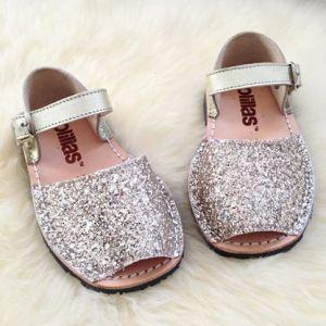 Solillas gold glitter Menorcan sandals