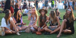 Coachella boho group of girls