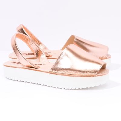 Solillas-Menorcan-Sandals-Flatform-Copper-Metallic-Leather-Cobre-Pair-Angle (2)