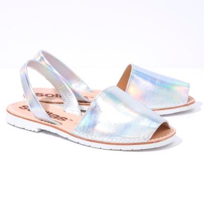 Solillas-Menorcan-Sandals-Original-Iridescent-Silver-Leather-Bora-Pair-Angle (3)