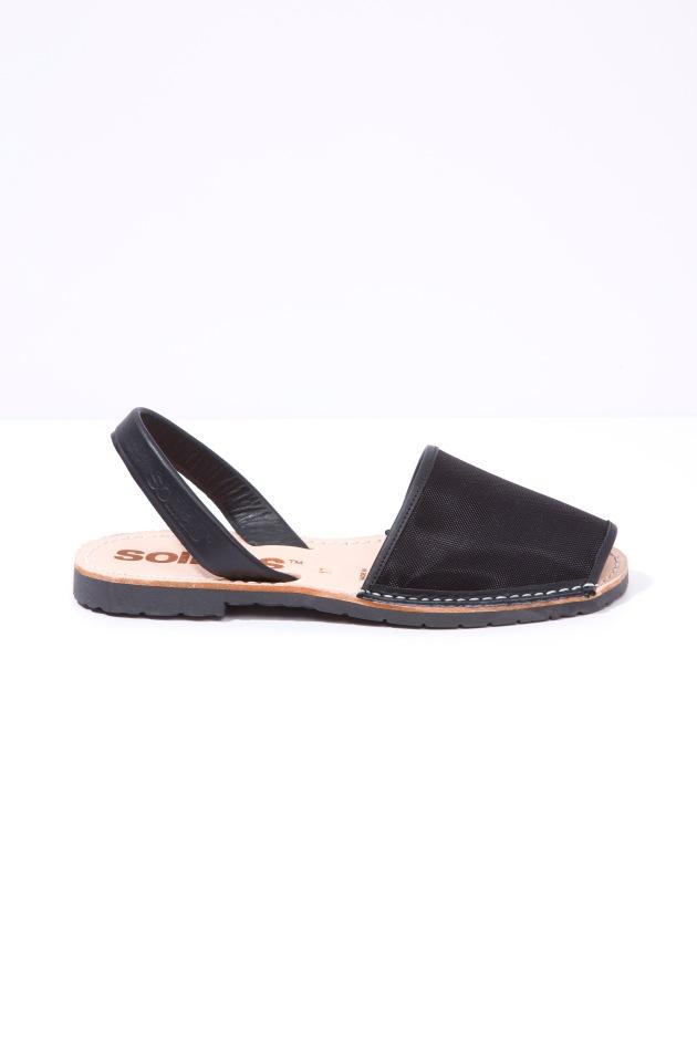 Solillas-Menorcan-Sandals-Original-Black-Mesh-Leather-Urbana-Side